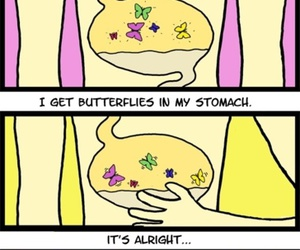 butterfly, stomach, and funny image