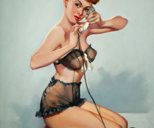 vintage and vintage pin up image