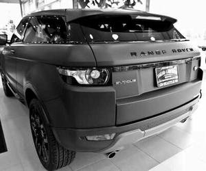 black, car, and range rover image