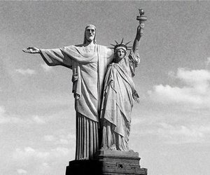 new york, brazil, and black and white image