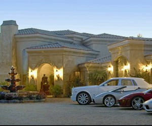 cars, house, and luxury image