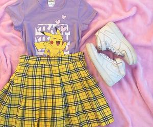 outfit, kawaii, and pikachu image