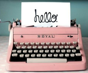 cursive, numbers, and typewriter image