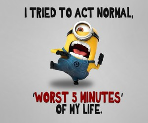 minions, normal, and funny image