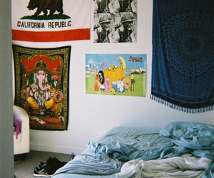 blanket, Ganesh, and grungy image