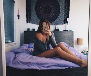 girl, style, and bedroom image