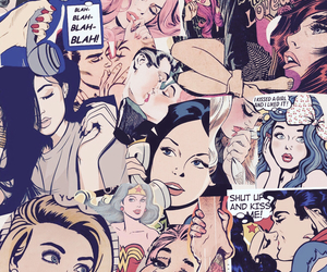 comic, girls, and pop art image