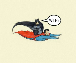 batman, smile, and wtf image
