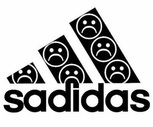 adidas, sad, and sadidas image
