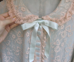 lace, blue, and vintage image