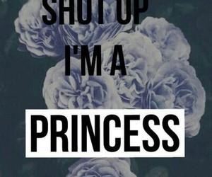 princess, flowers, and shut up image