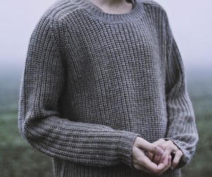 hands, knit, and sweater image