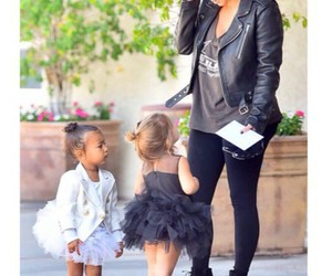 north west, penelope disick, and kim kardashian west image