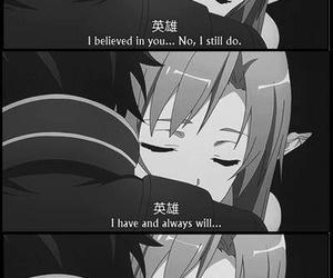 anime, hug, and anime couple image