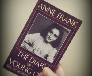 anne, books, and frank image