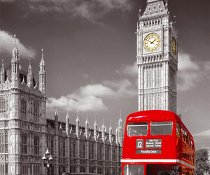 london, bus, and Big Ben image