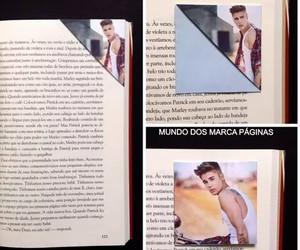 books, justin bieber, and marcapaginas image