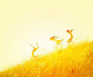 art, summer, and yellow image