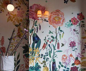 interior, wall, and art image