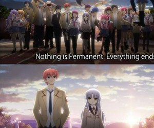 anime, sad, and angel beats image