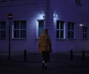 dark, girl, and purple image
