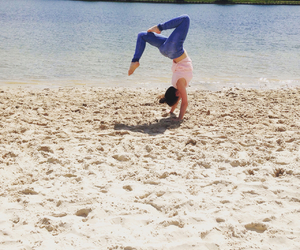acrobatic, beach, and blue image