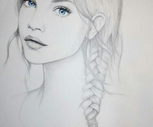 girl, drawing, and art image