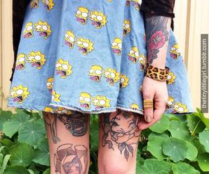 tattoo, grunge, and skirt image