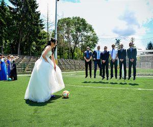 football and wedding image
