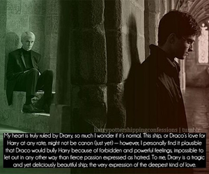 draco malfoy, harry potter, and monologue image