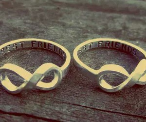 best friends, friends, and rings image