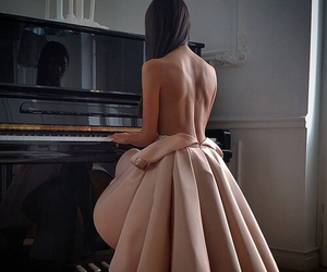 back, dresses, and glamour image