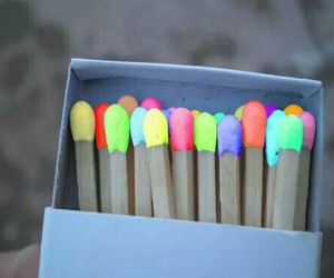 match, colors, and neon image