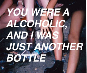 alcohol, love, and heartbreak image