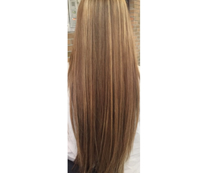 highlights, long hair, and straight hair image