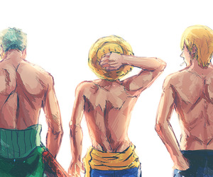one piece, sanji, and roronoa zoro image