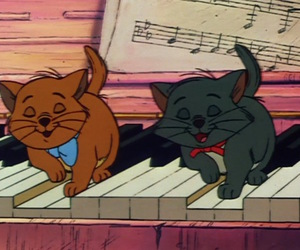cats, disney, and piano image