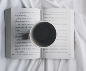 book, coffee, and hunger games image