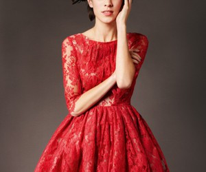 dress, red, and alexa chung image