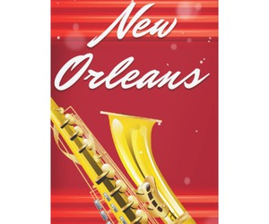 new orleans, saxophone, and saxophone cartoon image