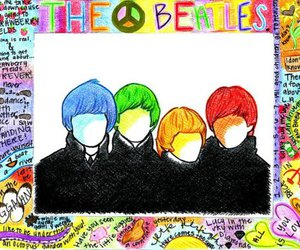 beatles, colourful, and drawing image