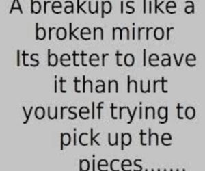 broken, quotes, and breakup image