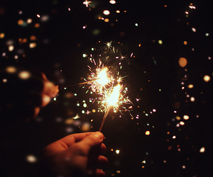 light and sparklers image