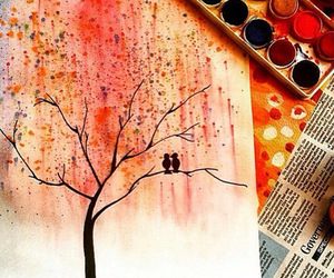 couple, tree, and drawing image
