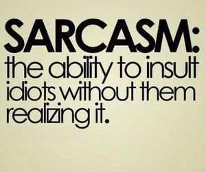 sarcasm, quotes, and idiot image