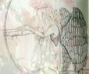 angel, bow, and ed image