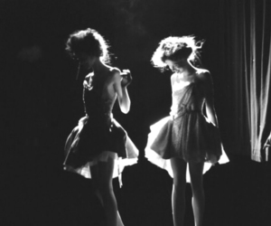 girl, black and white, and ballet image