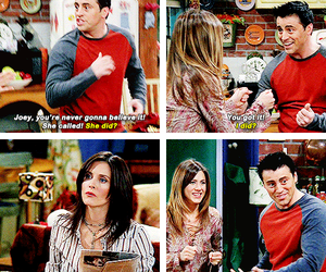 joey tribbiani, friends, and monica geller image