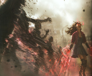 scarlet witch, Avengers, and Marvel image