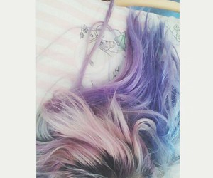 blue, pink, and haircolour image